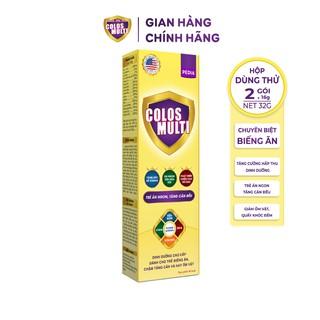 Sữa non Colosmulti Pedia hộp 2 gói x 16g chuyên biệt cho trẻ biếng ăn, chậm cân - MÂ U THƯ thumbnail