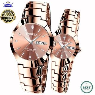 Đồng hồ Quartz chống thấm nước sang trọng chất liệu thép không gỉ 5808 thumbnail