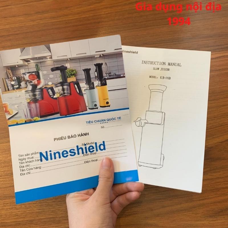 Máy ép chậm Nine shield KB F8 - Máy ép hoa hoa quả trái cây hàng nội địa Trung