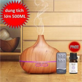 Máy khuếch tán tinh dầu cao cấp 500ml có tặng tinh dầu 10ml