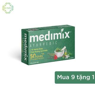 Set 9 xà phòng Medimix 18 loại thảo dược 125g bánh Tặng 1 xà phòng 125g