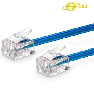 Dây line điện thoại bấm sẵn 2 đầu JSJ 302 dài 3m - 10m đầu cắm trong suốt có thể bẻ cong 90 độ, truyền tải nhanh