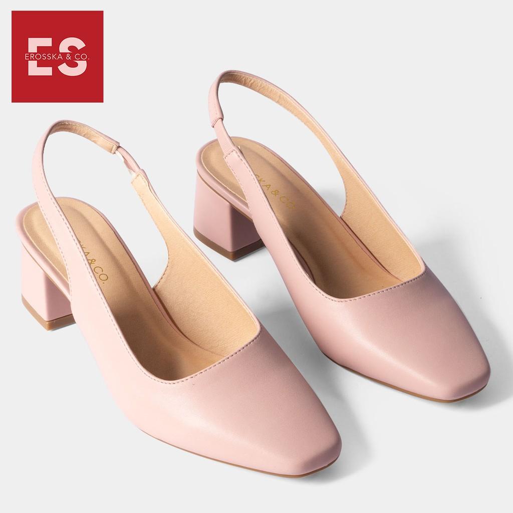 Giày Cao Gót Rosata - Giày cao gót vân sọc đen trắng RO20