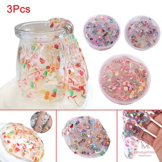 3 Pcs Fruit Candy Crystal DIY Slime Mud Kids Adults Anti-stress Sludge Clay Plasticine Toy