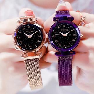 (Giá sỉ) Đồng hồ thời trang nữ MEIBO dây lưới nam châm siêu đẹp