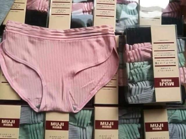 quần lót Muji chất gân tăm cao cấp sét 4 quần