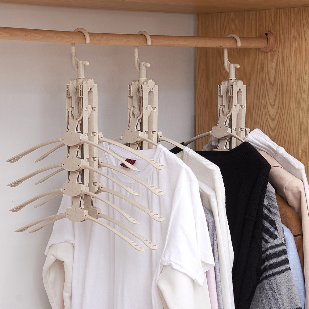 Móc treo quần áo đa chức năng bằng nhựa tiện dụng