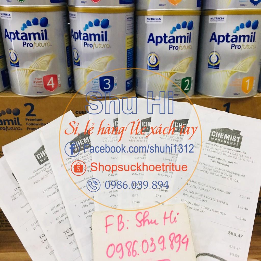 Sữa Aptamil Profutura Úc Số 1, Số 2, Số 3, Số 4 900g - đủ bill
