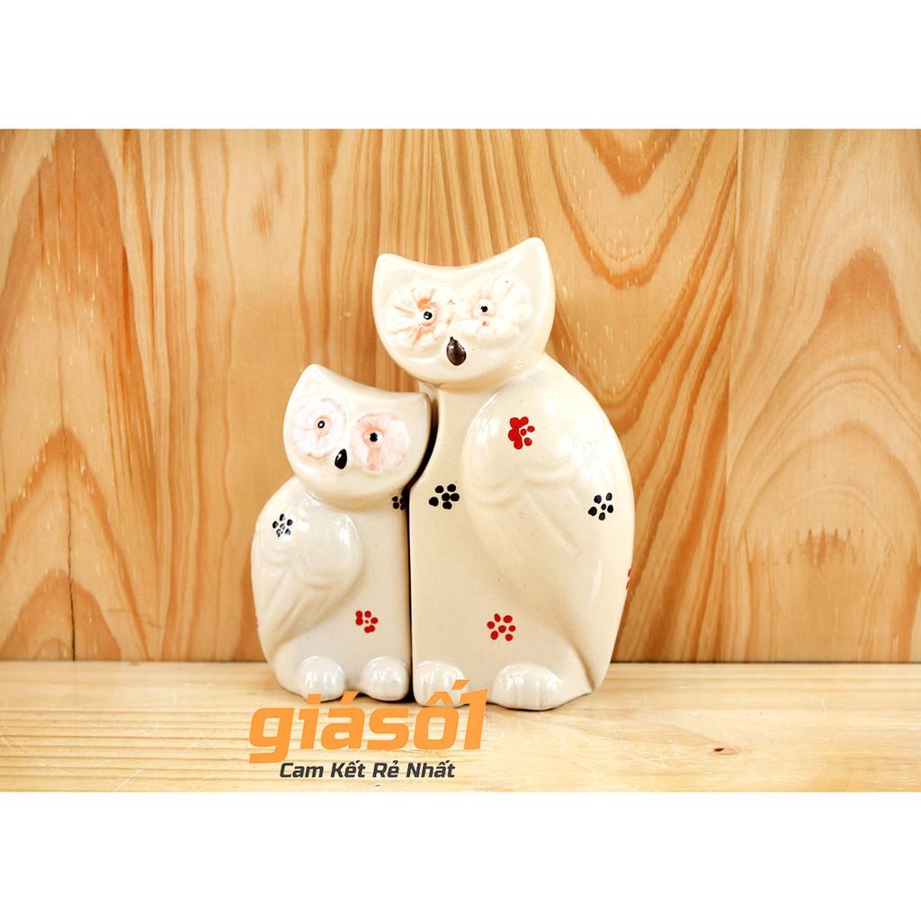 Tượng nghệ thuật Cú Mèo đôi to gốm sứ Bát Tràng(cỡ to) - 2723207 , 691804567 , 322_691804567 , 119000 , Tuong-nghe-thuat-Cu-Meo-doi-to-gom-su-Bat-Trangco-to-322_691804567 , shopee.vn , Tượng nghệ thuật Cú Mèo đôi to gốm sứ Bát Tràng(cỡ to)