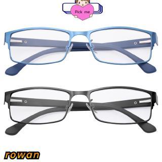 ROW Flexible Portable Magnifying Eye wear Ultra Light Resin Metal Titanium Alloy Business Reading Glasses