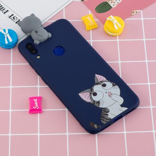 Ốp lưng silicone hình hoạt hình dành cho Xiaomi Redmi Note 5pro 6pro 7 A2