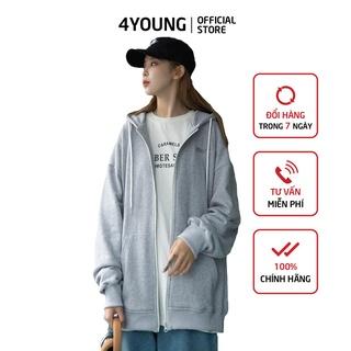 XẢ HÀNG Áo khoác hoodie nữ form rộng có dây kéo 4YOUNG FASHION ubui thumbnail