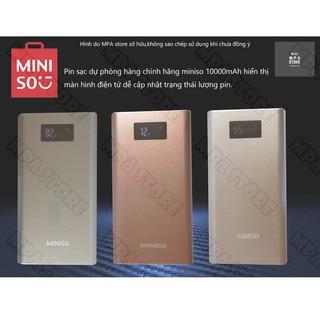 Pin Sạc dự phòng MINISO PB100 10000mAh hàng chính hãng