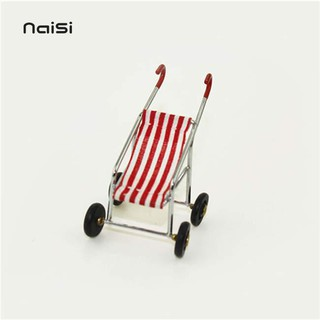 NaiSi 1/12 Dollhouse Miniature Baby Stroller Model