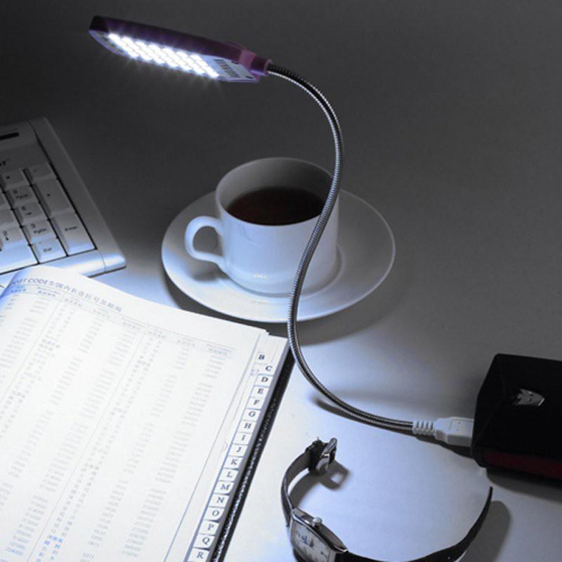 Đèn LED cổng USB 28 bóng siêu sáng có thể uốn cong 360 độ (màu ngẫu nhiên)