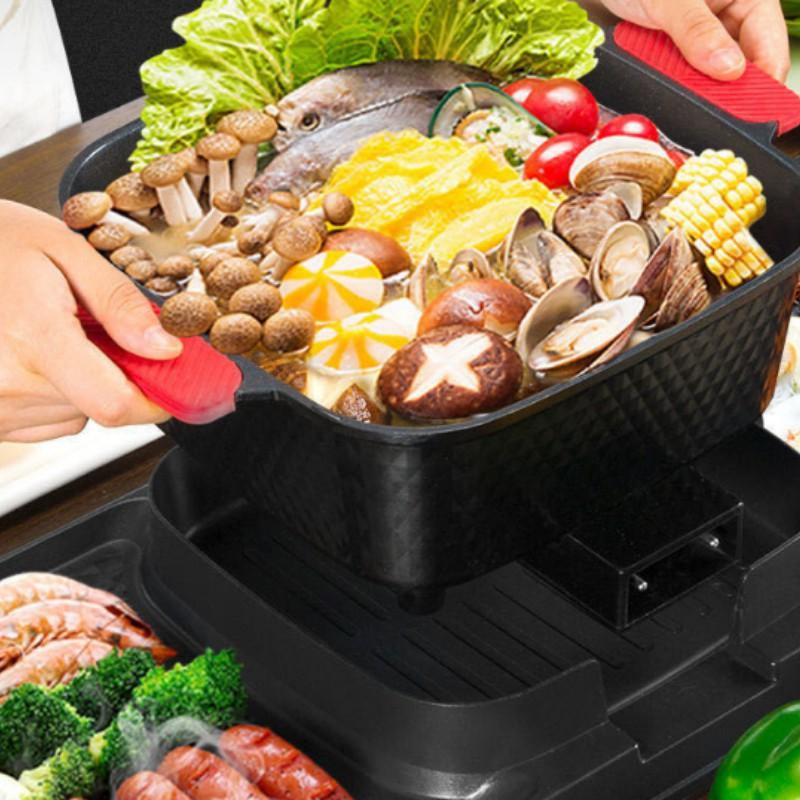 [BẢO HÀNH 6 THÁNG ] Bếp Nướng Lẩu 2 Ngăn ⚡ ĐA NĂNG ⚡ Nồi lẩu nướng điện 2 trong 1 tiết kiệm điện năng
