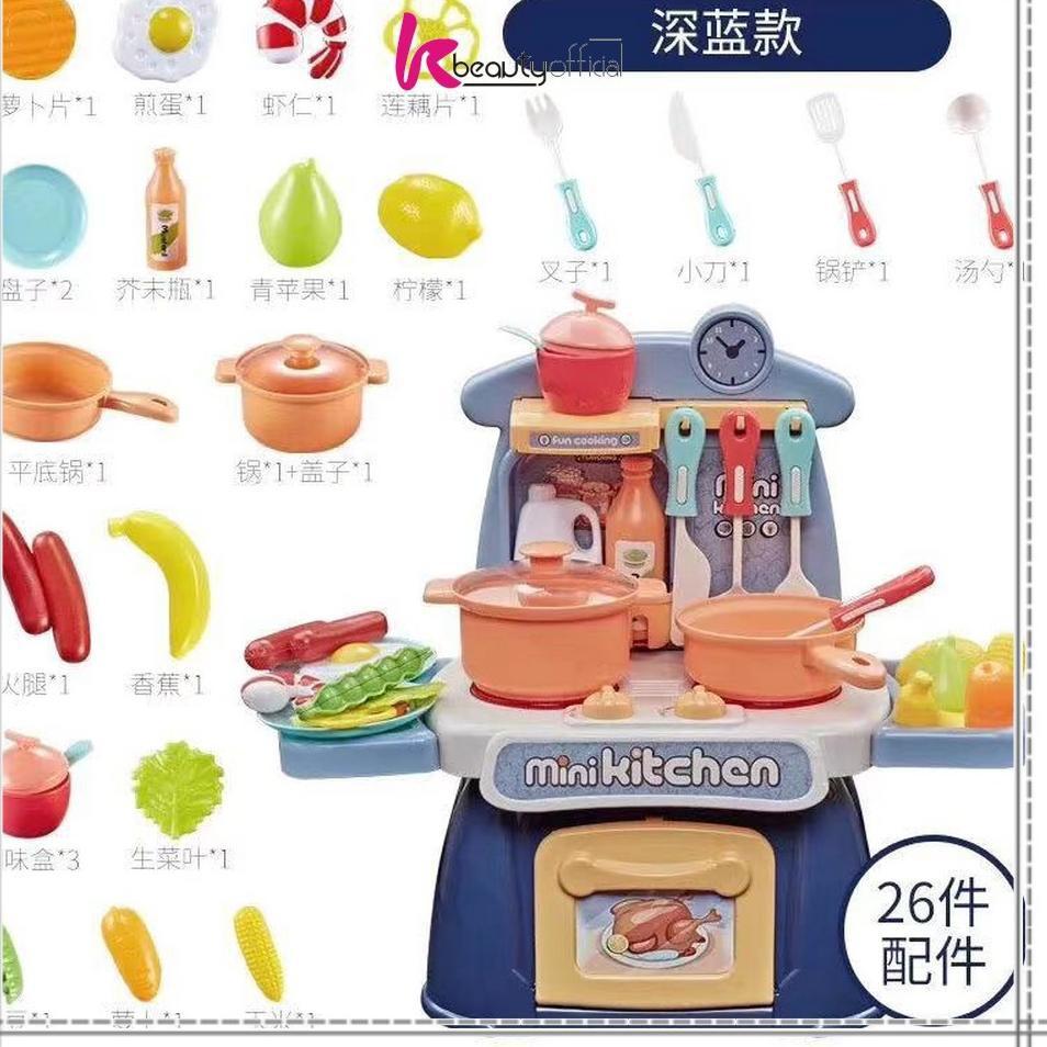 Bộ Đồ Chơi Nấu Ăn Mini Miliki.. Kb-M26 26 Cho Bé Gái