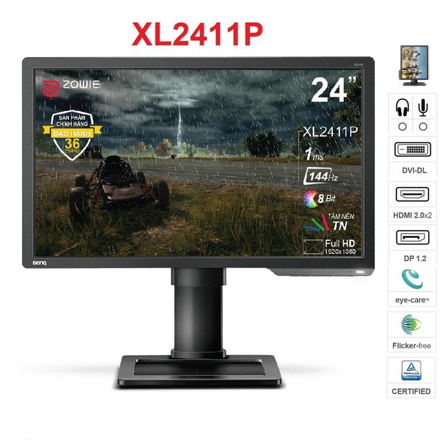 [Mã ELXILI giảm 10% đơn 100K] Màn hình BenQ Zowie XL2411P 24 inch Full HD 1920 x 1080 1ms 144Hz TN-Hàng Chính Hãng