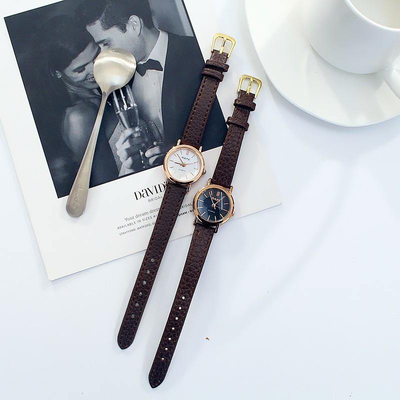 Đồng hồ thời trang nữ RaTe SS41 Dây da mặt tròn