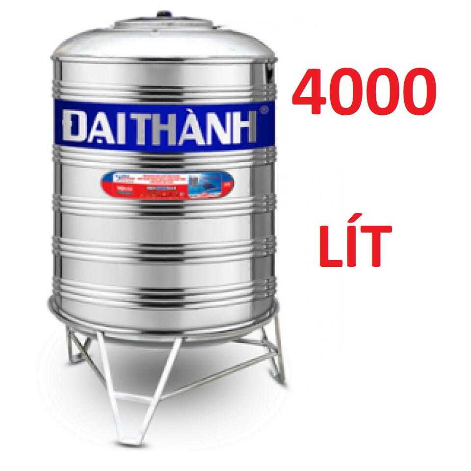 Bồn nước cao cấp inox304 Đại Thành 4000lit, bồn nước inox304, Bảo hành chính hãng 1