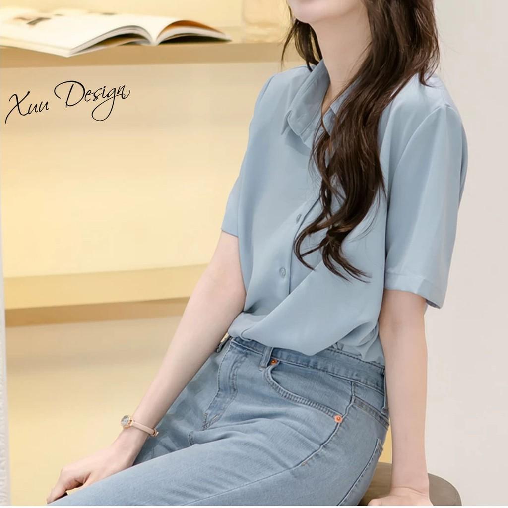 Mặc gì đẹp: Phong cách với Áo sơ mi nữ công sở thiết kế kiểu dáng basic, chất vải mềm mát - Thời trang thiết kế XUU DESIGN SM19