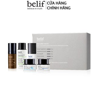 [HB Gift] Combo 5 món Belif Best-Seller trial kit và Kem cấp ẩm Belif The True Cream Aqua Bomb sample Gimmick