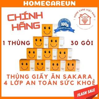 Giấy ăn gấu trúc SAKARA mặt cười 1 tờ 4 lớp mềm dai không bụi giấy an toàn cho sức khoẻ thumbnail