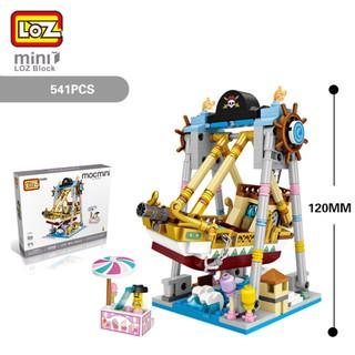Bộ xếp hình Lego LOZ Khối sân chơi mini có thể xoay linh hoạt – Tàu cướp biển