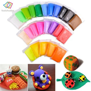 FCD 24 Colors DIY Craft Soft Clay Plasticine Blocks Fimo Effect Modeling Polymer Toy