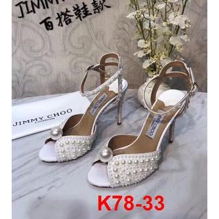 K78-33 Jimmy Choo sandal cao 10cm siêu cấp
