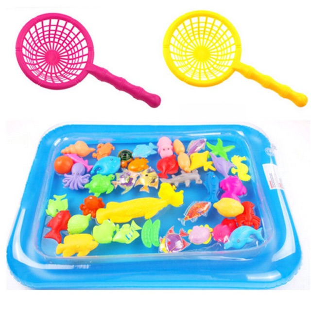 [KÈM BƠM HƠI [Có ảnh thật]] Bộ đồ chơi phao câu cá nam châm dành cho bé