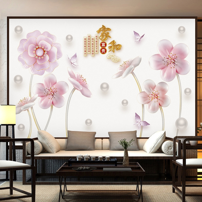 ✳✸◙TV background wall sticker bedroom warm living room decoration wallpaper self-adhesive creative dormitory