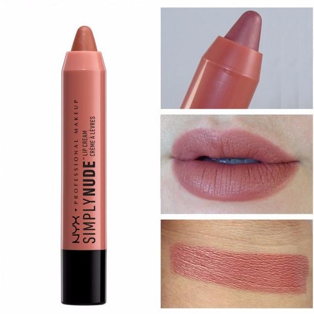 Son kem dạng bút NYX Simply Nude Lip Cream SN06 Sable