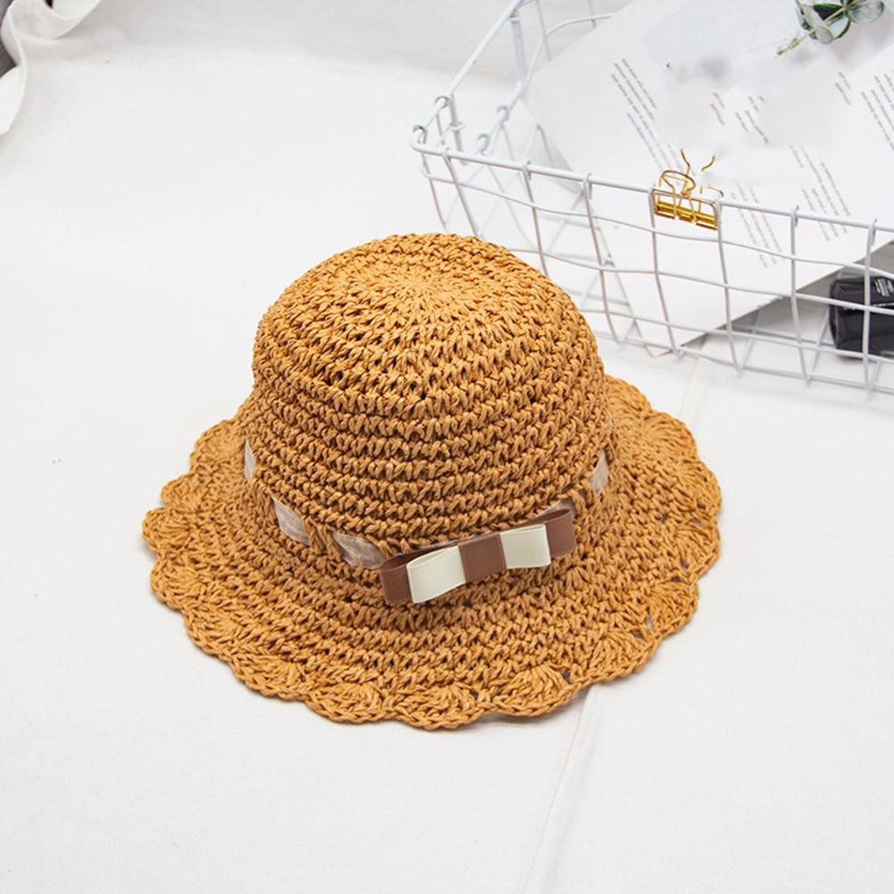 👒Cozyroomsa Cute Toddler Baby Straw Sun Hat Sum Outdoor Beach Holiday Buet Caps