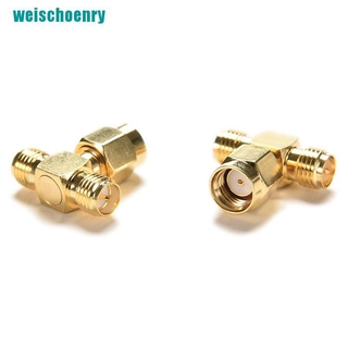 ❤1pce Adapter RP.SMA jack male to 2 RP-SMA plug female T RF connector triple 1M2F