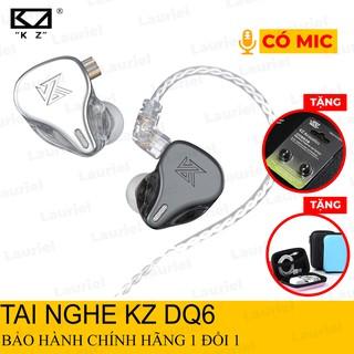 Tai nghe KZ DQ6 tai nghe nhét tai Hifi thể thao chống ồn 3DD có Micro