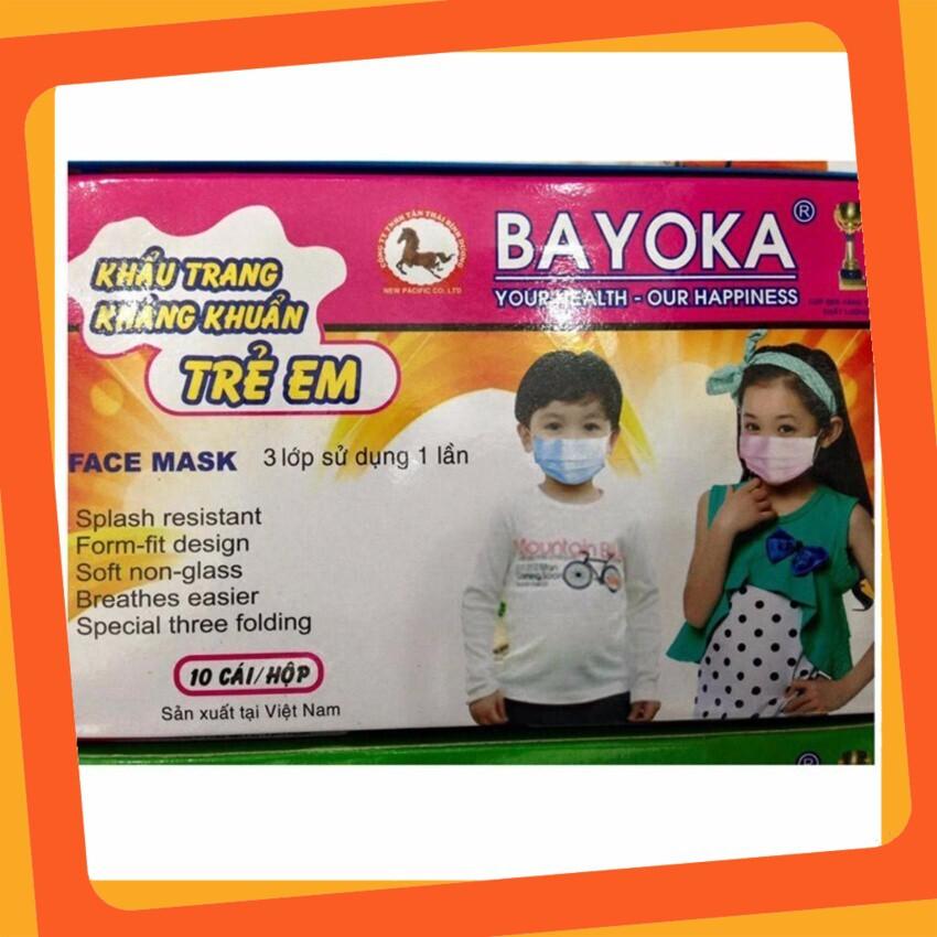 (Giá Hấp Dẫn)Hộp 10 Khẩu Trang Trẻ Em Việt Nam chất liệu vải không dệt poly propylene PP