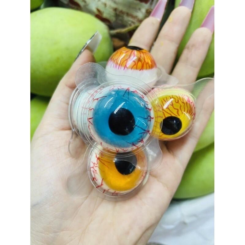 Lẻ lẻ 1 Viên Kẹo Dẻo Con Mắt 3D Big Eye Ball 15gr
