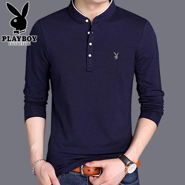 Áo phông thun nam dài tay Playboy chất đẹp - Áo thun dài tay - áo phông đẹp, chất lượng