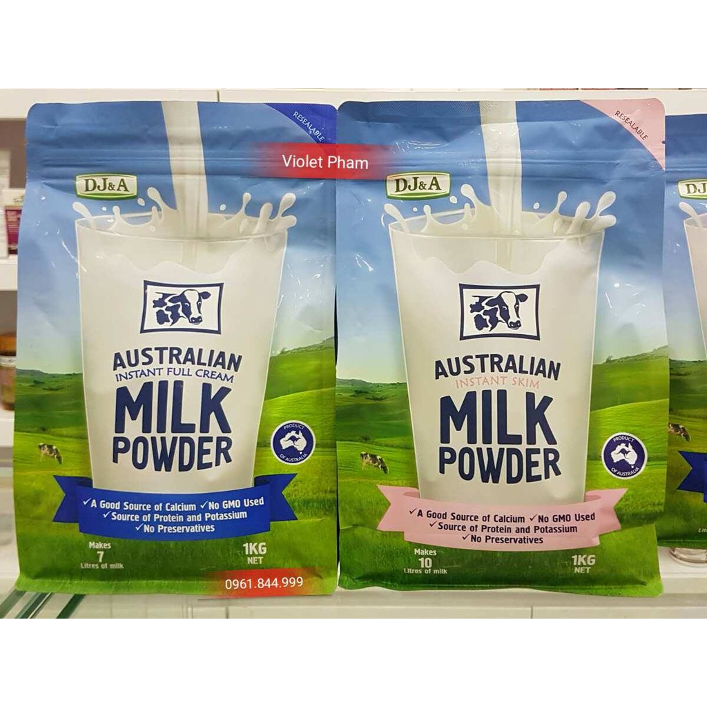 Sữa tươi dạng bột DJ&A Australian NGUYÊN KEM- TÁCH KEM Úc (LOẠI 1 KG- 1,5KG ) - 2850660 , 192659801 , 322_192659801 , 319000 , Sua-tuoi-dang-bot-DJA-Australian-NGUYEN-KEM-TACH-KEM-Uc-LOAI-1-KG-15KG--322_192659801 , shopee.vn , Sữa tươi dạng bột DJ&A Australian NGUYÊN KEM- TÁCH KEM Úc (LOẠI 1 KG- 1,5KG )