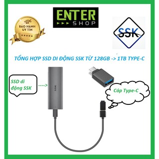 Ổ CỨNG SSD DI ĐỘNG SSK TỪ 128GB ĐẾN 1TB TYPE-C 3.0
