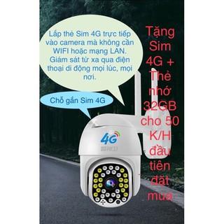 Camera 4G giám sát 360° sử dụng Sim 4G Full HD 1080P ngoài trời