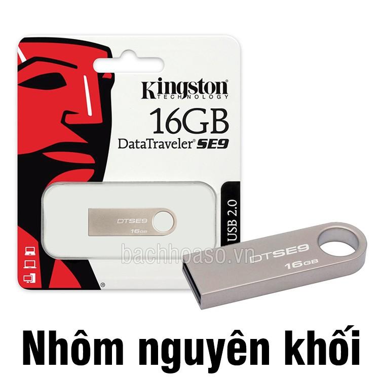 USB 16GB Kingston SE9 nhôm nguyên khối cực đẹp - 9998449 , 314517669 , 322_314517669 , 150000 , USB-16GB-Kingston-SE9-nhom-nguyen-khoi-cuc-dep-322_314517669 , shopee.vn , USB 16GB Kingston SE9 nhôm nguyên khối cực đẹp