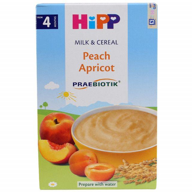 (4M+) Bột ăn dặm HiPP sữa Đào, Mơ tây - 250g