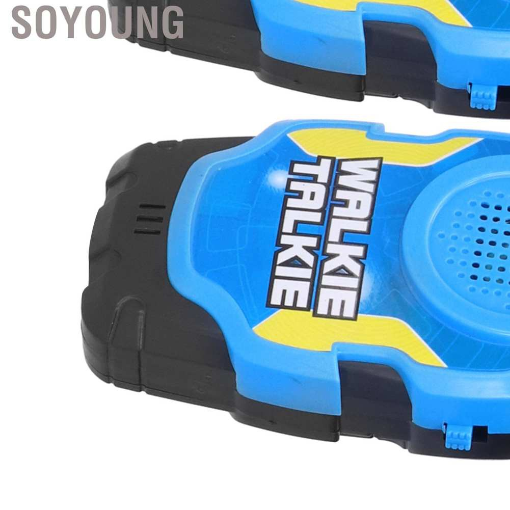 Soyoung 2Pcs Children Walkie Talkies Blue Handheld Intercoms Bidirectionally Toys