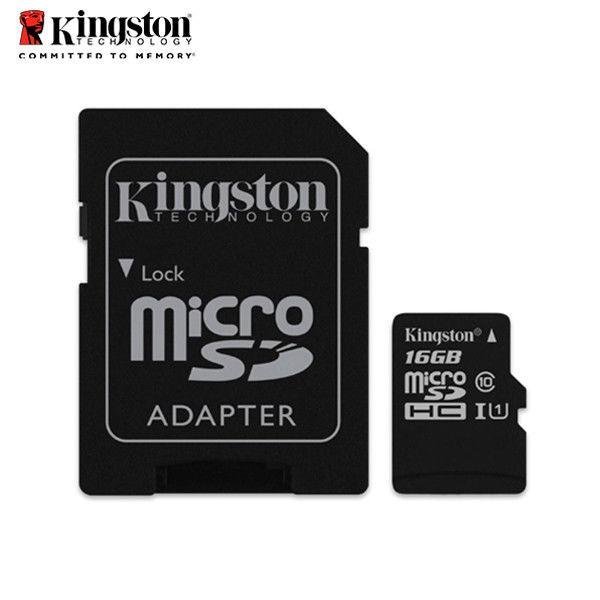 Thẻ nhớ Micro SDHC Kingston Class 10 UHS-I 80MB/s 16GB (Đen) - Hãng phân phối chính thức