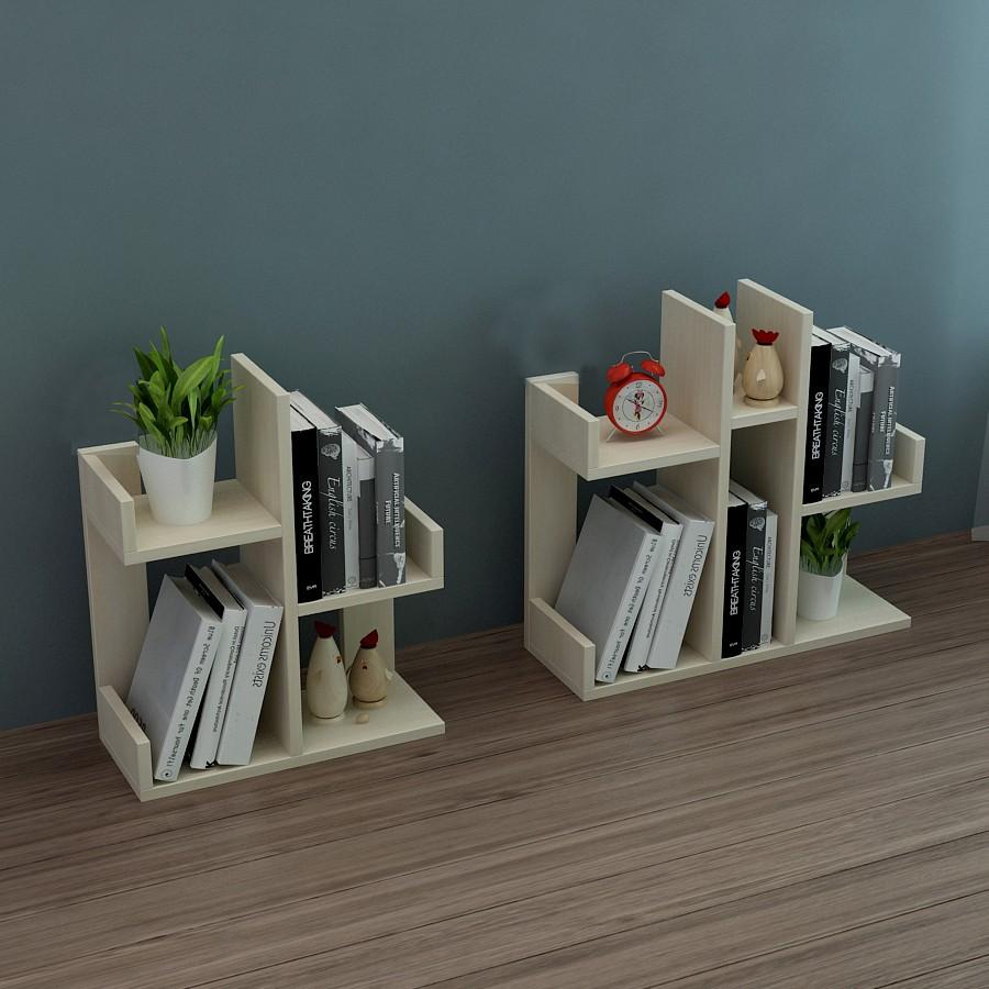 Kệ sách để bàn mini bằng gỗ dùng cho văn phòng, để bàn cho học cho bé.