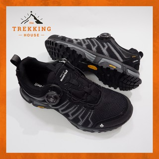 Giày leo núi trekking chống thấm nước Montbell, Giày phượt dã ngoại outdoor Đen