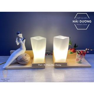 Đèn Tường Kệ Gỗ Chao Thủy Tinh Hiện Đại DT-3024 - Trang Trí Căn Phòng - Energy Green Lighting - Đã Bao Gồm Bóng LED - hình 2