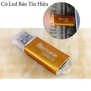 ĐẦU LỌC THẺ LOẠI VỎ NHÔM XỊN - Đầu Đọc Thẻ Nhớ MicroSD Vỏ Nhôm Có Đèn Báo ( hàng xịn )